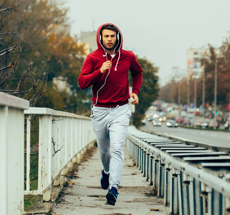 Man running - Benefits of IV vitamin drips